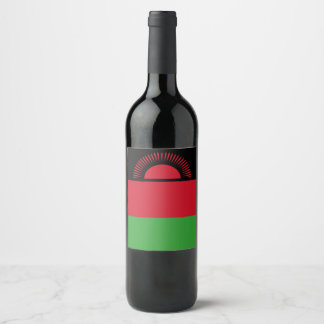 Malawi Flag Wine Label