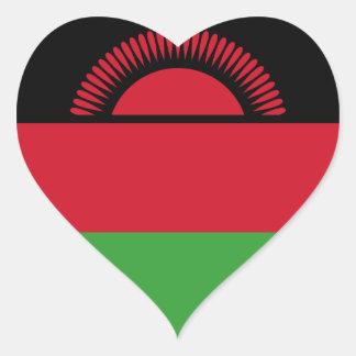 malawi heart sticker