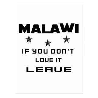Malawi If you don't love it, Leave Postcard