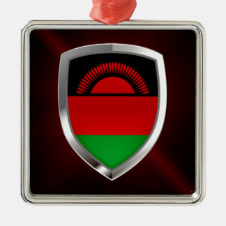 Malawi Metallic Emblem Metal Ornament
