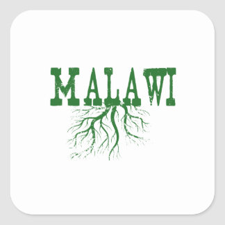 Malawi Roots Green Word Art Square Sticker