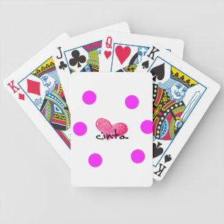 Malay Language of Love Design Bicycle Playing Cards