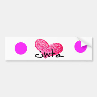 Malay Language of Love Design Bumper Sticker