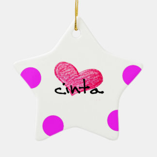 Malay Language of Love Design Ceramic Ornament