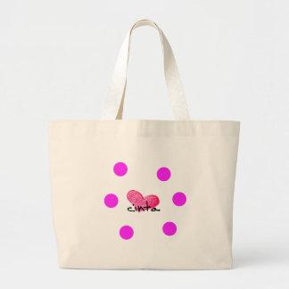 Malay Language of Love Design Large Tote Bag
