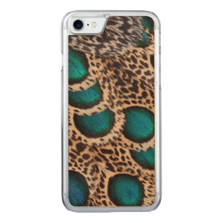 Malay Peacock-pheasant feathers Carved iPhone 7 Case