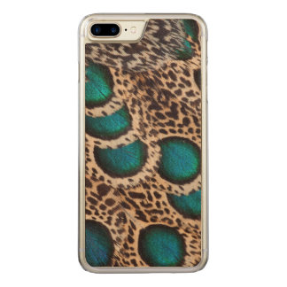 Malay Peacock-pheasant feathers Carved iPhone 7 Plus Case