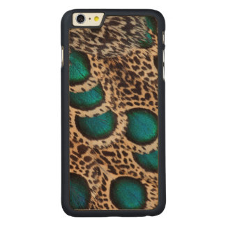 Malay Peacock-pheasant feathers Carved® Maple iPhone 6 Plus Case