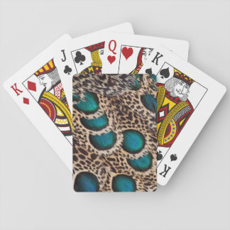 Malay Peacock-pheasant feathers Playing Cards