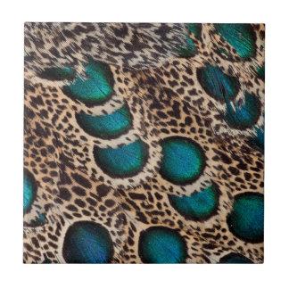 Malay Peacock-pheasant feathers Tile