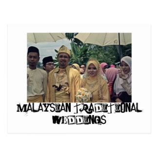 Malay weddings postcard