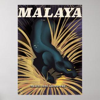 Malaya Vintage travel poster. Poster