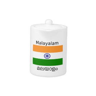 Malayalam Language And India Flag Design