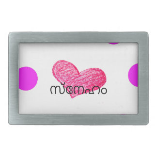 Malayalam Language of Love Design Rectangular Belt Buckle