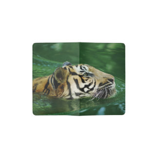 Malayan Tiger Swimming Pocket Moleskine Notebook