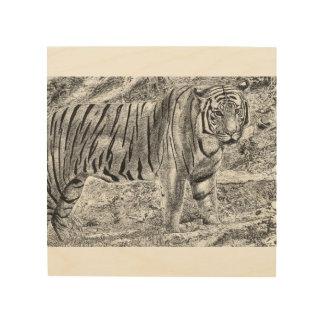 Malayan Tiger Wood Canvas
