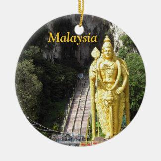 Malaysia Batu Caves Statue Christmas Ornament