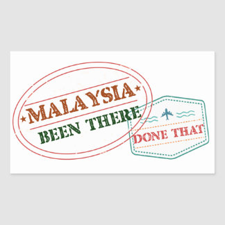 Malaysia Been There Done That Sticker