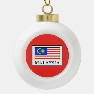 Malaysia Ceramic Ball Christmas Ornament