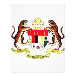 Malaysia Coat of Arms Customized Letterhead