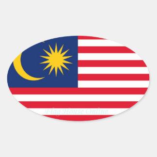Malaysia - Euro-style Oval Sticker