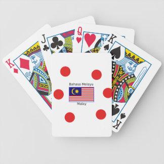 Malaysia Flag And Malay Language Design Bicycle Playing Cards