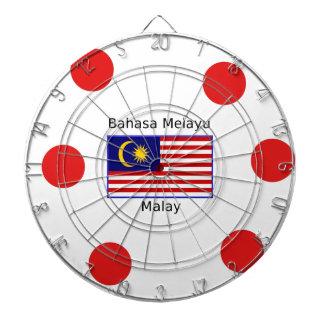 Malaysia Flag And Malay Language Design Dartboard