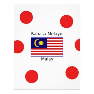 Malaysia Flag And Malay Language Design Letterhead