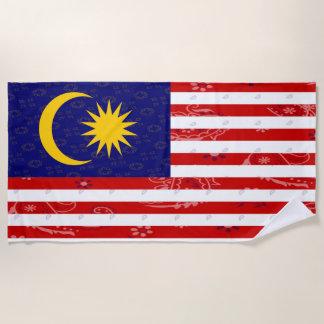 Malaysia Flag Beach Towel