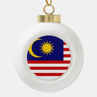 Malaysia Flag Ceramic Ball Christmas Ornament