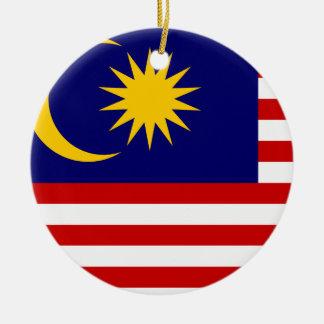 Malaysia Flag Ceramic Ornament