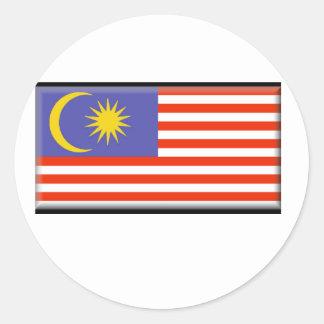Malaysia Flag Classic Round Sticker
