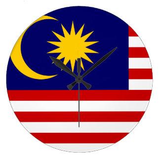 Malaysia Flag Large Clock