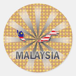 Malaysia Flag Map 2.0 Classic Round Sticker