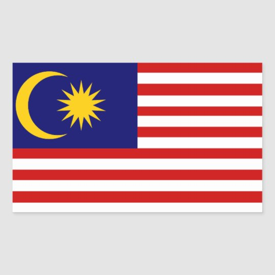 Malaysia: Flag of Malaysia Sticker