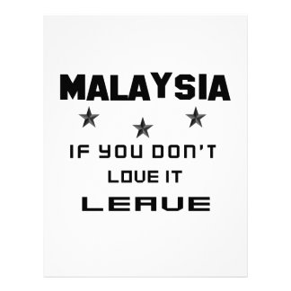 Malaysia If you don't love it, Leave Letterhead Design