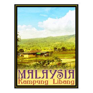 Malaysia - Kampung Libang (Libang Village) Postcard