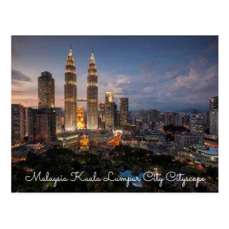 Malaysia Kuala Lumpur City Cityscape Postcards