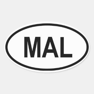 "Malaysia ""MAL"" Sticker"
