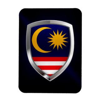 Malaysia Metallic Emblem Magnet