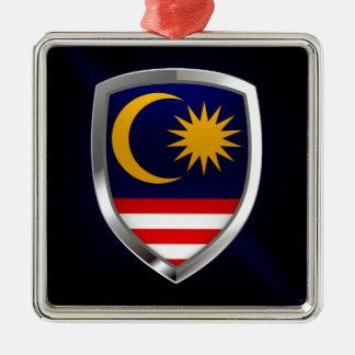 Malaysia Metallic Emblem Metal Ornament