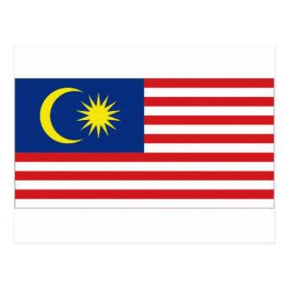 Malaysia National Flag Postcard
