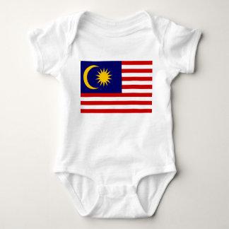 Malaysia National World Flag Baby Bodysuit