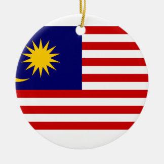 Malaysia National World Flag Ceramic Ornament