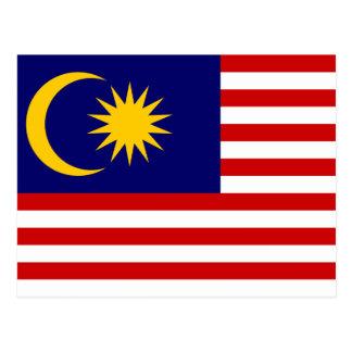 Malaysia National World Flag Postcard
