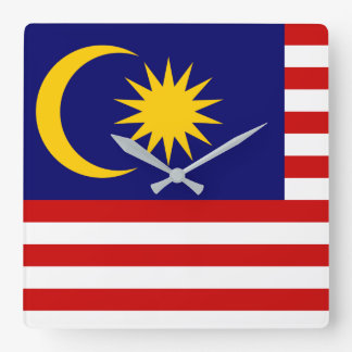 Malaysia National World Flag Square Wall Clock