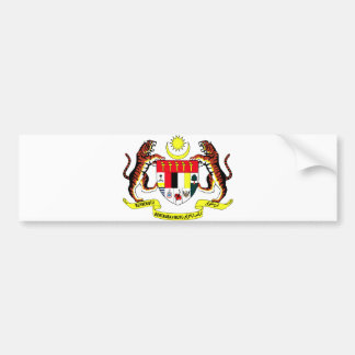 Malaysia Official Coat Of Arms Heraldry Symbol Bumper Sticker
