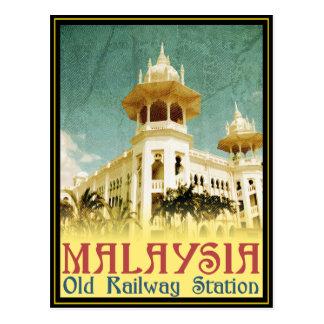 Malaysia Old Railway Station Postcard