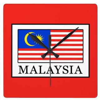 Malaysia Square Wall Clock