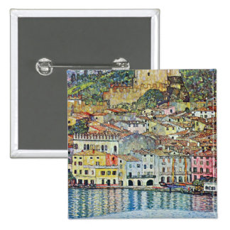 Malcena at the Gardasee by Gustav Klimt 2 Inch Square Button
